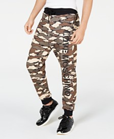 Love Moschino Men's Cloud Camo Joggers