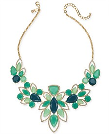 "I.N.C. Crystal & Stone Statement Necklace, 16"" + 3"" Extender, Created for Macy's"