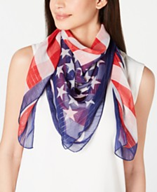 Collection XIIX Metallic Stripe Flag Scarf