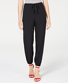 Juniors' Lace-Up Jogger Pants, Created for Macy's