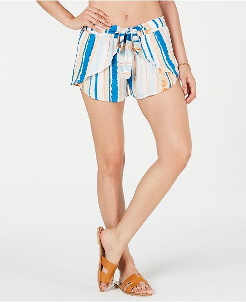 Roxy Juniors' Lemon Chill Printed Cover-Up Shorts