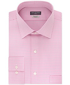 Men's Classic/Regular Fit Stretch Flex Print Dress Shirt