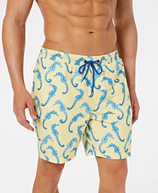 "Men's Seahorse Quick-Dry 7"" Swim Trunks, Created for Macy's"
