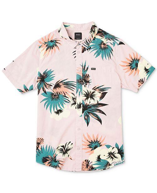 RVCA Men's Romeo Floral-Print Shirt