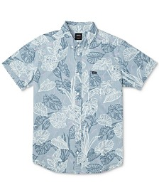 RVCA Men's Tropical-Print Shirt