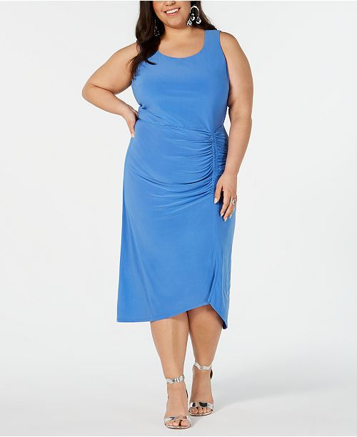 Love Squared Trendy Plus Size Ruched Sheath Dress