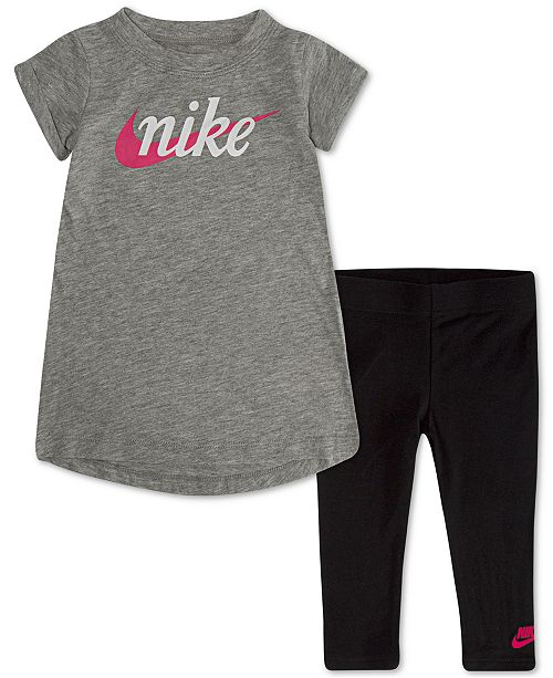 Nike Baby Girls 2-Pc. Printed T-Shirt & Leggings Set