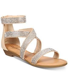 ZIGIny Marvela Rhinestone Strappy Flat Sandals