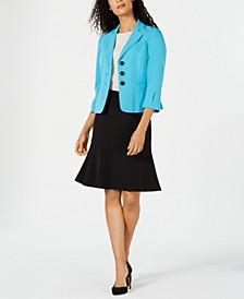 Three-Button Skirt Suit