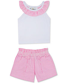 Rare Editions Baby Girls 2-Pc. Top & Seersucker Shorts Set