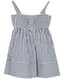 Rare Editions Baby Girls Striped Bow Dress