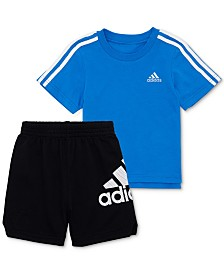 adidas Baby Boys 2-Pc. Cotton T-Shirt & Shorts Set