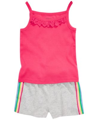 Baby Girls Eyelet Ruffle Camisole Cotton Tank Top, Created for Macy's