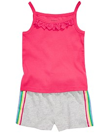 First Impressions Toddler Girls Cotton Tank Top & Side Stripe Shorts, Created for Macy's