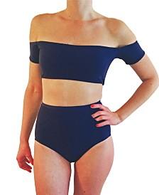 Krupa Couture Off The Shoulder Crop