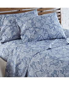 Perfect Paisley deep, Pocket Boho Sheet Set, Full