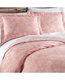 Southshore Fine Linens Perfect Paisley Down Alt 3 Piece Reversible Comforter Set, Full/Queen
