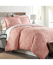 Perfect Paisley Boho Duvet Cover and Sham Set, Full/Queen