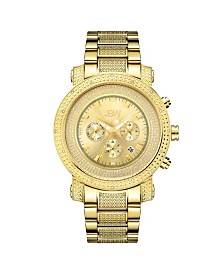 JBW Men's Victor Diamond (1/6 ct.t.w.) 18k Gold Plated Stainless Steel Watch