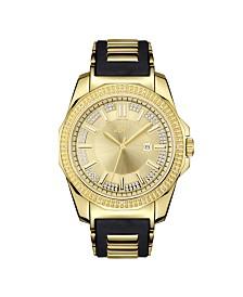 JBW Men's Regal Diamond (1/6 ct.t.w.) 18k Gold Plated Stainless Steel Watch