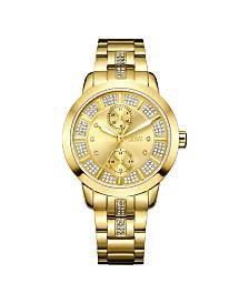 JBW Women's Lumen Diamond (1/20 ct.t.w.) 18k Gold Plated Stainless Steel Watch