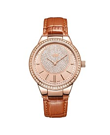 JBW Women's Camille Diamond (1/6 ct.t.w.) 18k rose Gold Plated Stainless Steel Watch