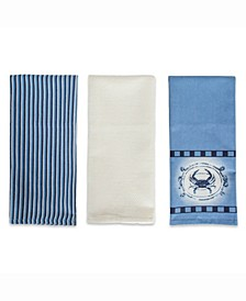 Crab Printed Dishtowel Set of 3