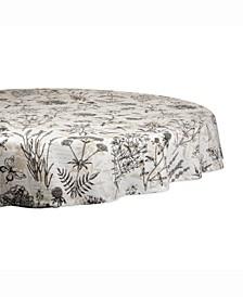 "Botanical Print Table cloth 70"" Round"