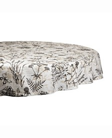 "Botanical Print Table cloth 70"" Round"