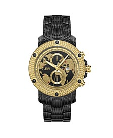 Men's Veyron Diamond (1/5 ct.t.w.) Black Ion-Plated Stainless Steel Watch