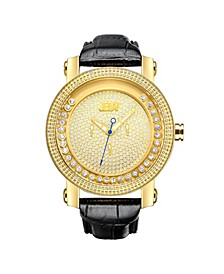 Men's Hendrix Diamond (1/5 ct.t.w.) 18k Gold Plated Stainless Steel Watch