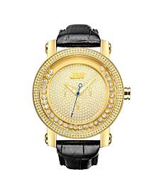 JBW Men's Hendrix Diamond (1/5 ct.t.w.) 18k Gold Plated Stainless Steel Watch