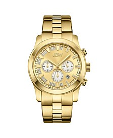 Men's Delano Diamond (1/5 ct.t.w.) 18k Gold Plated Stainless Steel Watch
