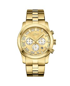 JBW Men's Delano Diamond (1/5 ct.t.w.) 18k Gold Plated Stainless Steel Watch