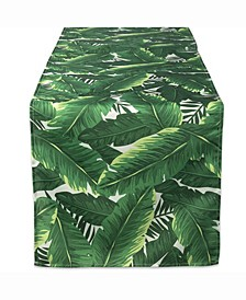 "Banana Leaf Outdoor Table Runner 14"" X 108"""