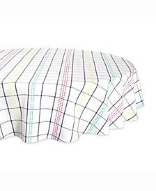 "Color Pop Plaid Table cloth 70"" Round"