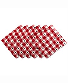 Star Check Napkin Set of 6