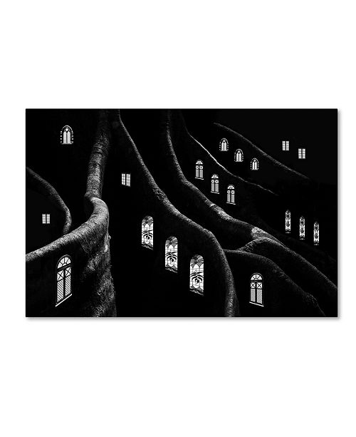"Trademark Global Jacqueline Hammer 'Windows Of The Forest' Canvas Art - 19"" x 12"" x 2"""