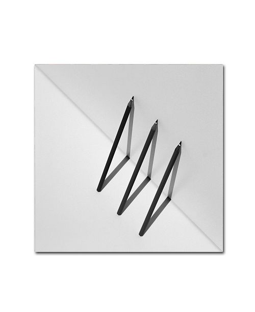 "Trademark Global Jacqueline Hammer 'Triangles' Canvas Art - 35"" x 35"" x 2"""