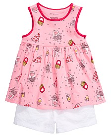 First Impressions Baby Girls Printed Tunic & Cotton Eyelet Shorts, Created for Macy's