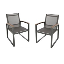 Glasgow Outdoor Dining Chair, Quick Ship (Set of 2)