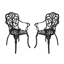 Viga Outdoor Dining Chair, Quick Ship (Set of 2)