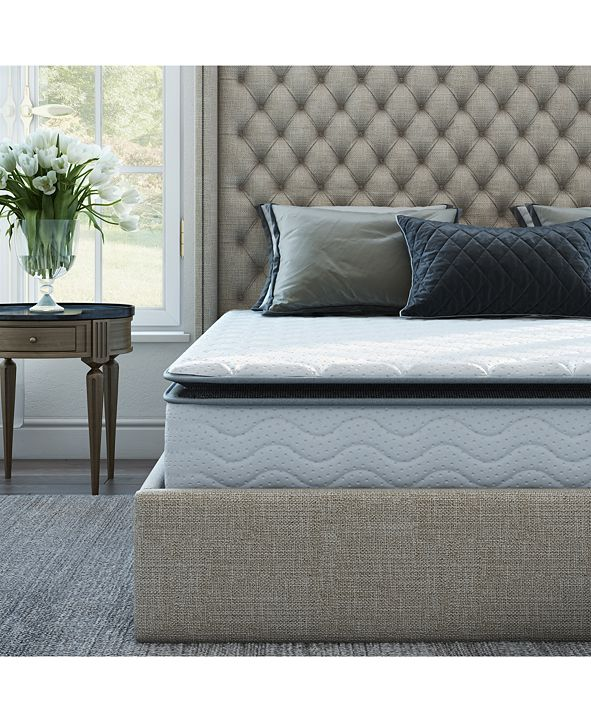 "Sleep Trends Davy 10"" Wrapped Coil Firm Pillow Top Mattress in a Box Collection"
