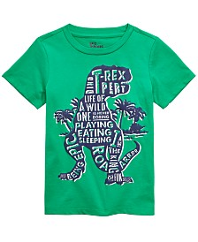 Epic Threads Little Boys Dino Words T-Shirt, Created for Macy's