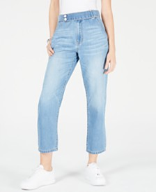OAT Cropped Cotton Straight-Leg Jeans