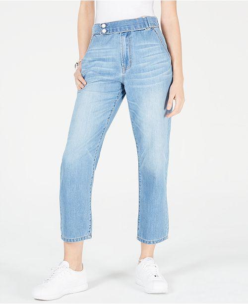 OAT Cropped Straight-Leg Jeans