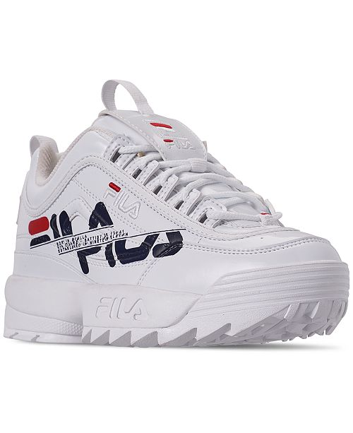 Fila Boys' Disruptor II Print Casual Athletic Sneakers from