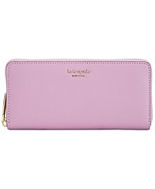 Syliva Leather Slim Continental Wallet