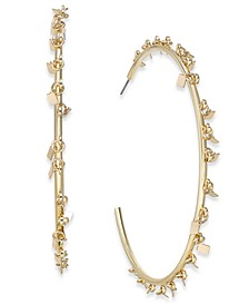 Gold-Tone Shaky Square Disc Large Hoop Earrings , Created for Macy's
