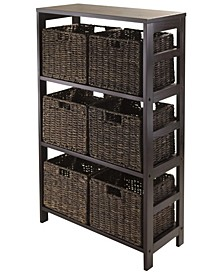 Granville 7Pc Storage Shelf with 6 Foldable Baskets